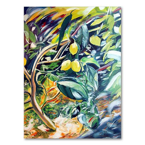 32''x26'' ''Lemon Tree'' Canvas Wall Art by Coleen Proppe