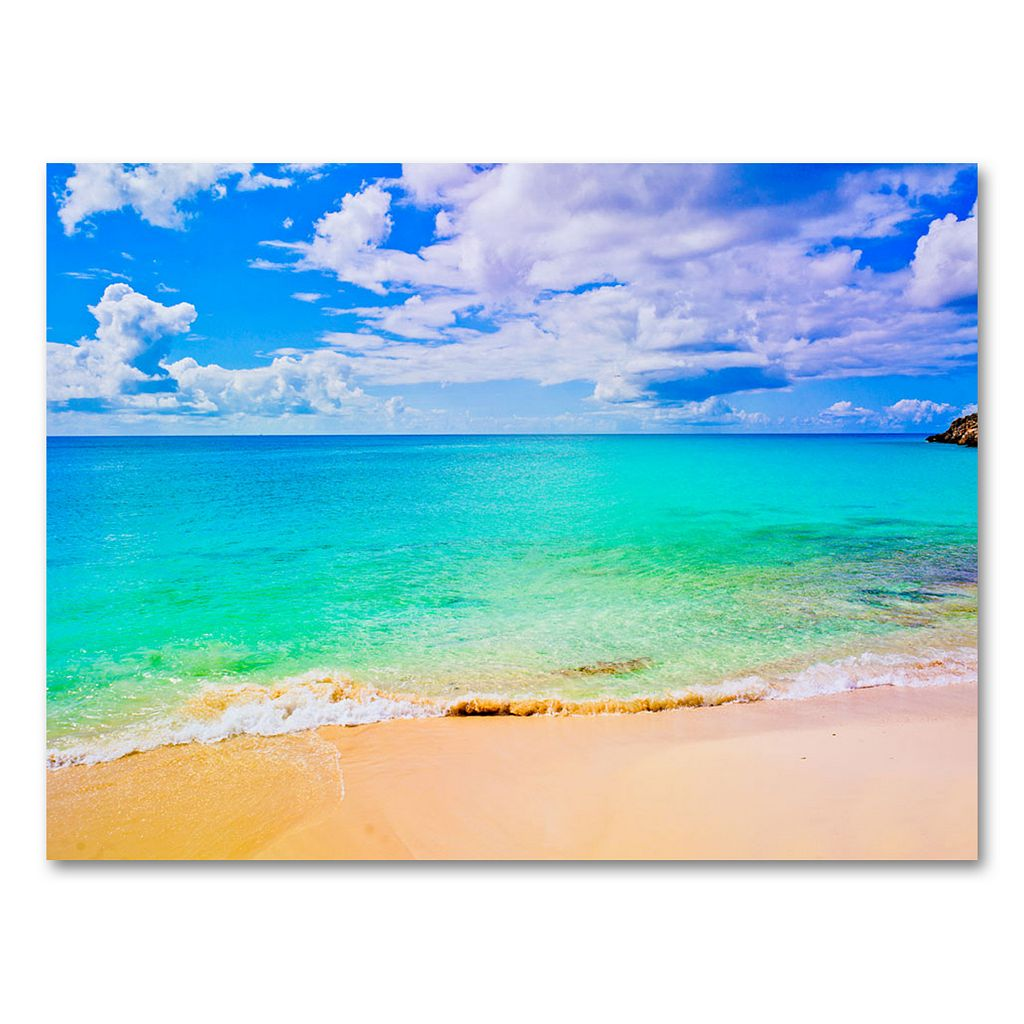 35'' x 47'' ''Maho Beach'' Canvas Wall Art by Preston