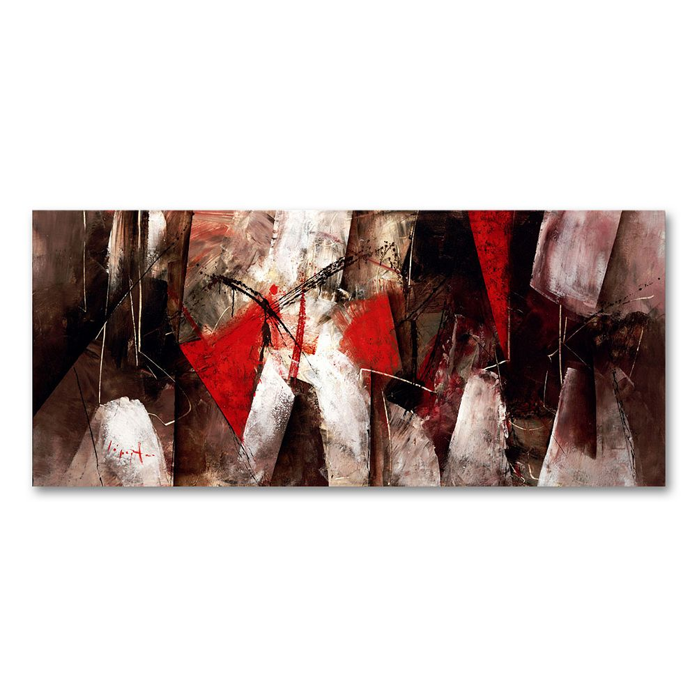 14'' x 32'' ''Abstract VII'' Canvas Wall Art by Lopez