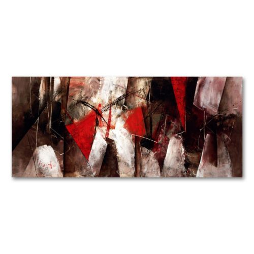"14"" x 32"" ""Abstract VII"" Canvas Wall Art by Lopez"