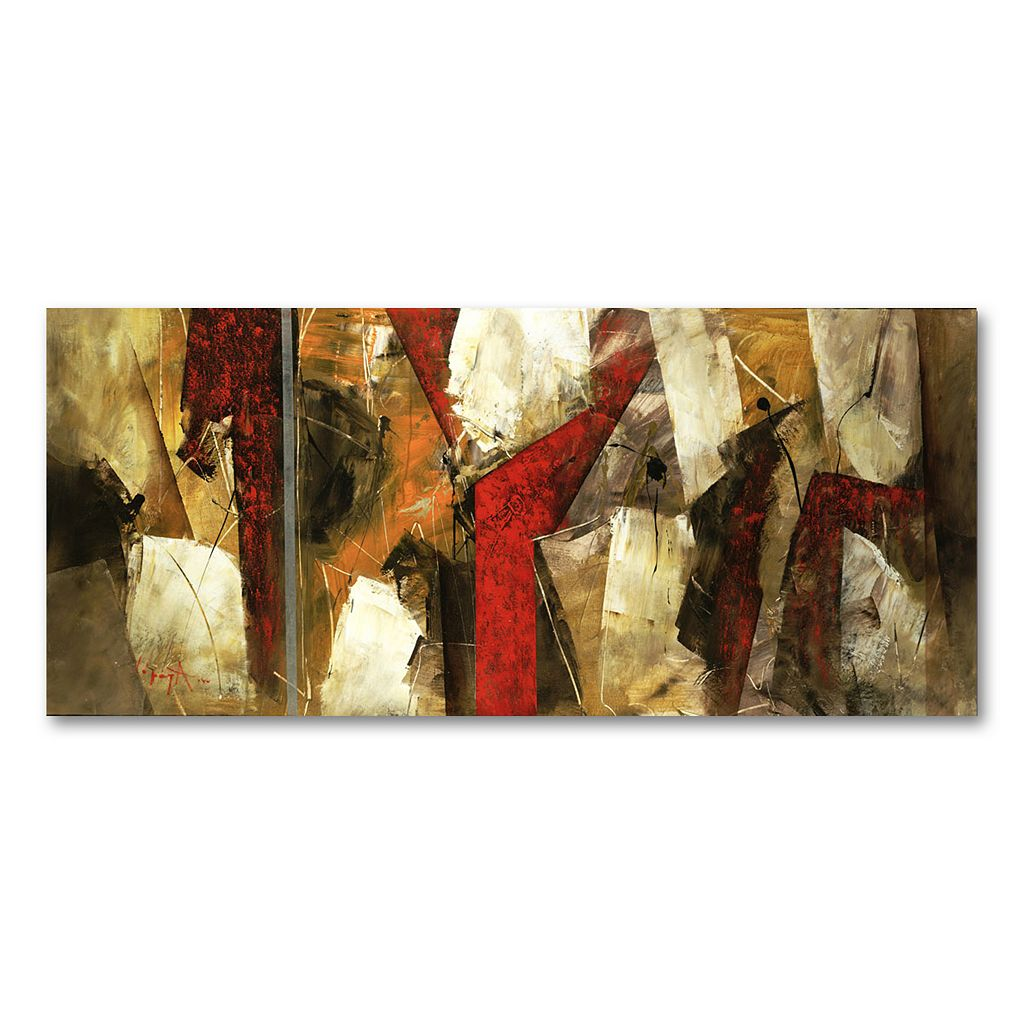 14'' x 32'' ''Abstract IX'' Canvas Wall Art by Lopez