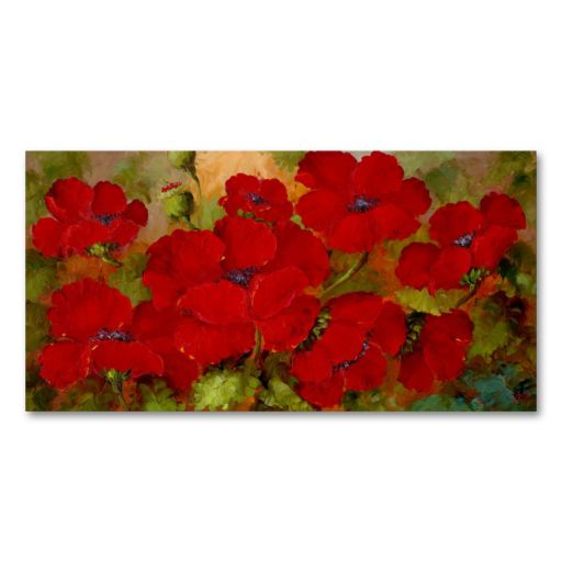 16'' x 32'' ''Poppies'' Canvas Wall Art by Rio