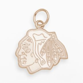 LogoArt Chicago Blackhawks 14k Gold Logo Charm