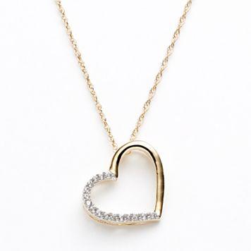 Diamond Petites 10k Gold Two Tone 1/10-ct. T.W. Diamond Heart Pendant