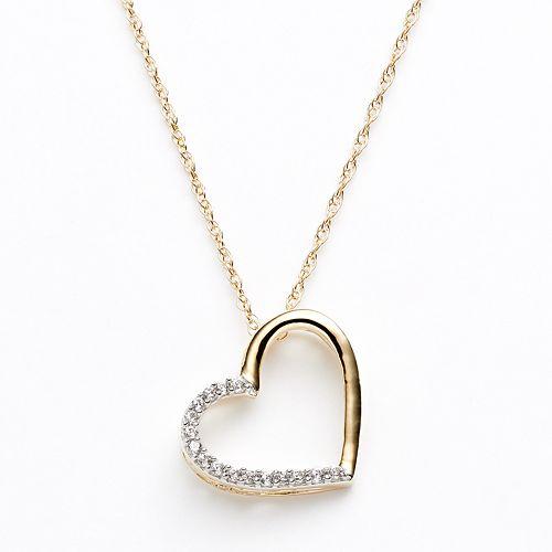 54ca851706bd3 Diamond Petites 10k Gold Two Tone 1/10-ct. T.W. Diamond Heart Pendant