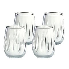 Amici by Global Amici 4 pc Aerating Stemless Wine Glass Set
