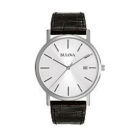 Bulova Men's Dress Leather Watch - 96B104