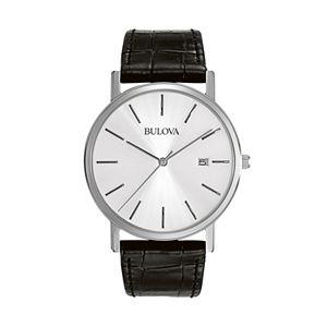 a4a111d78 Bulova Men's Classic Leather Automatic Watch - 96C130