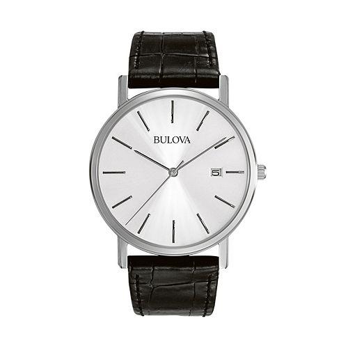 Bulova Men's Dress Leather Watch - 96B104
