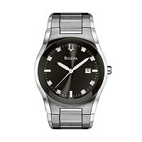 Bulova Men's Diamond Allandele Stainless Steel Watch - 96D104