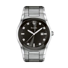 Bulova Men's Diamond Allandele Stainless Steel Watch - 96D104