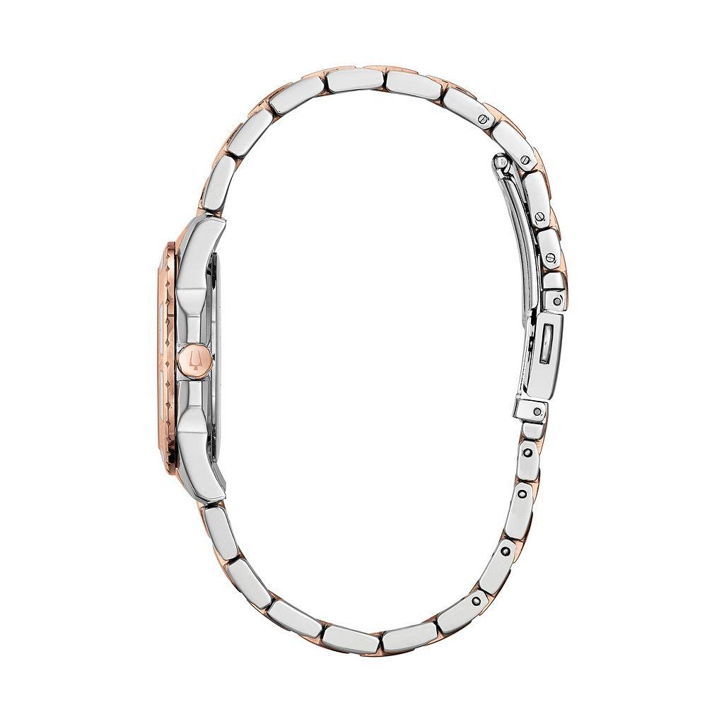 Bulova Women's Diamond Two Tone Stainless Steel Watch - 98P134