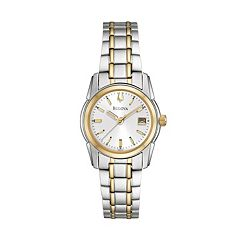 Bulova Women's Dress Two Tone Stainless Steel Watch - 98M105