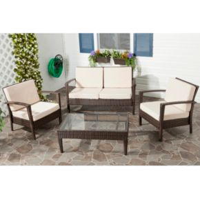 Safavieh Piscataway 12-pc. Wicker Patio Set