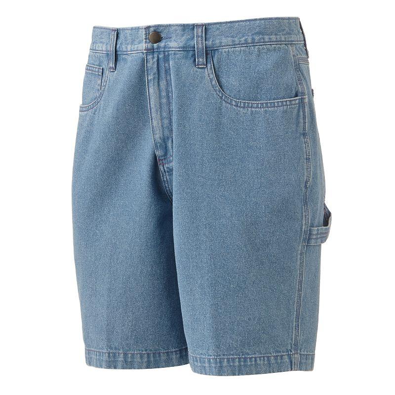 Croft & Barrow Denim Carpenter Shorts - Men (Blue)