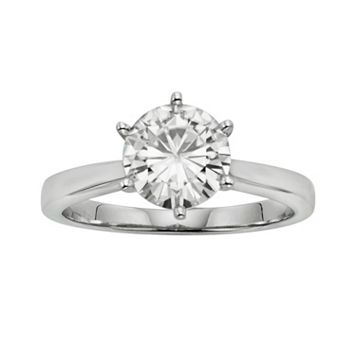 Forever Brilliant Round-Cut Lab-Created Moissanite Solitaire Engagement Ring in 14k White Gold (1 9/10 ct. T.W.)