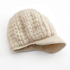SIJJL Crochet Brim Wool Beanie