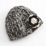 SIJJL Flower Knit Wool Beanie