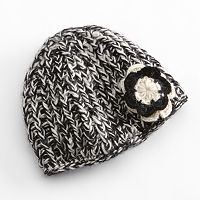 SIJJL Flower Knit Wool Beanie