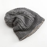 SIJJL Cable-Knit Wool Beanie
