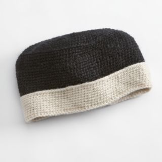 SIJJL Foldable Brim Crochet Wool Beanie