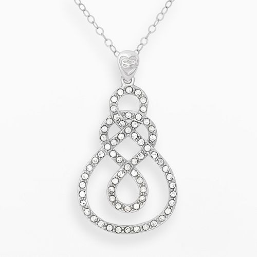AMORE by SIMONE I. SMITH Platinum Over Silver Crystal Infinity Pendant