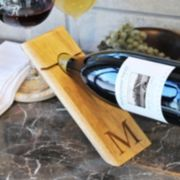 Cathy's Concepts Monogram Counter Balance Wine Bottle Holder