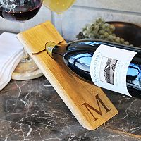 Cathy's Concepts Monogram Counter Balance Wine Bottle Holder
