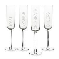 Cathy's Concepts 4 pc Celebrate! Contemporary Champagne Flute Set