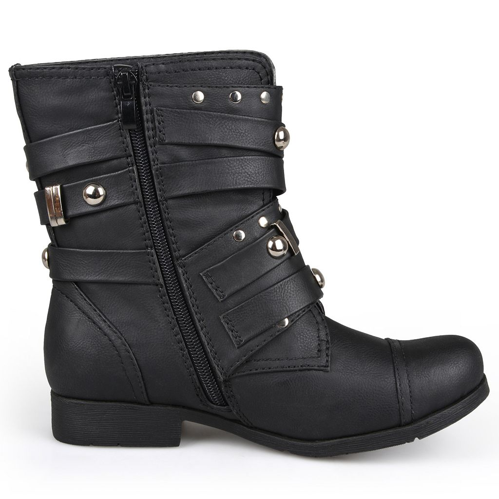Journee Collection Brooklyn Women's Studded Moto Boots