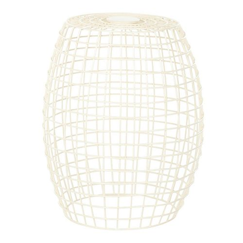 "Safavieh Eric 18"" White Grid Stool"