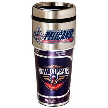 New Orleans Pelicans Stainless Steel Metallic Travel Tumbler