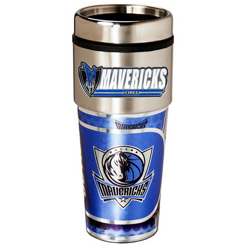 Dallas Mavericks Stainless Steel Metallic Travel Tumbler