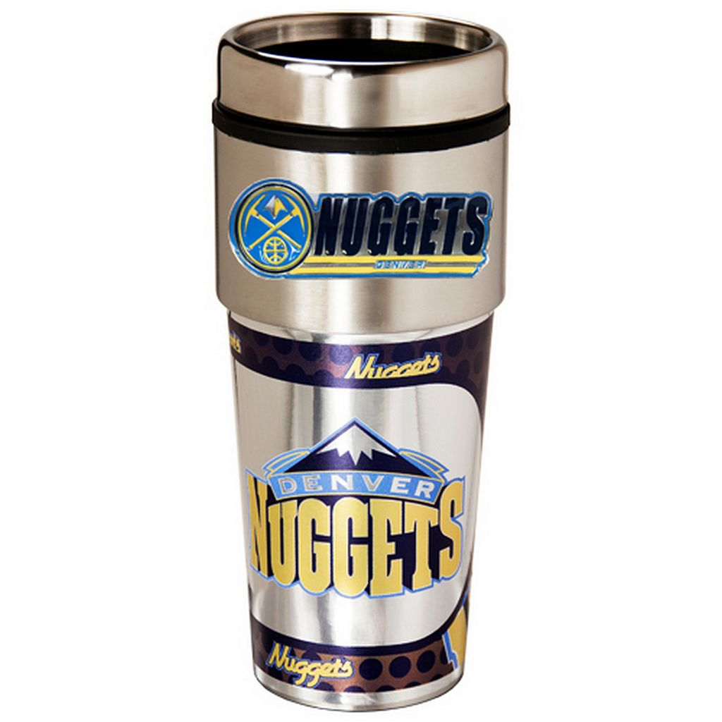 Denver Nuggets Stainless Steel Metallic Travel Tumbler