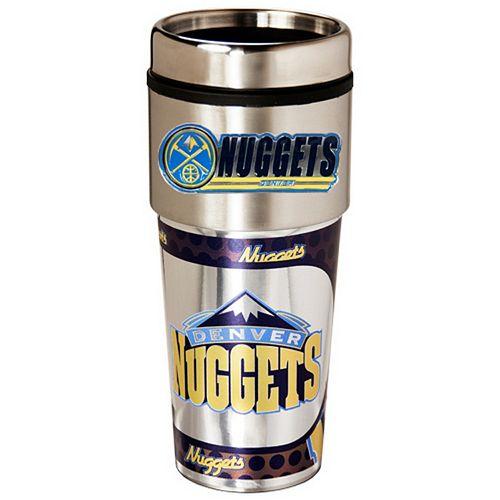 Denver Nuggets Stainless Steel Metallic Travel Tumbler