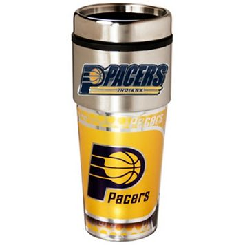 Indiana Pacers Stainless Steel Metallic Travel Tumbler