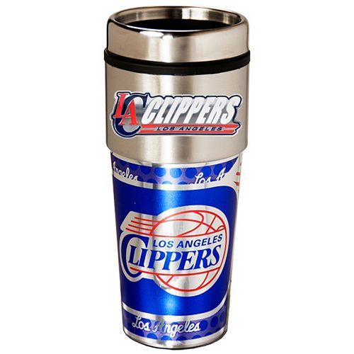 Los Angeles Clippers Stainless Steel Metallic Travel Tumbler