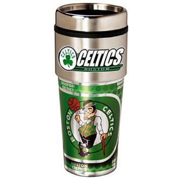 Boston Celtics Stainless Steel Metallic Travel Tumbler
