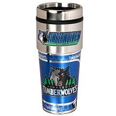 Minnesota Timberwolves Stainless Steel Metallic Travel Tumbler