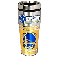 Golden State Warriors Stainless Steel Metallic Travel Tumbler