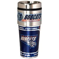 Charlotte Bobcats Stainless Steel Metallic Travel Tumbler