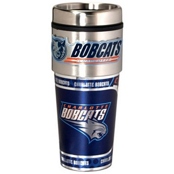 Charlotte Bobcats Stainless Steel Metallic Travel Tumbler