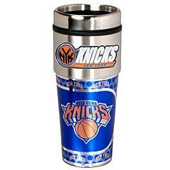 New York Knicks Stainless Steel Metallic Travel Tumbler
