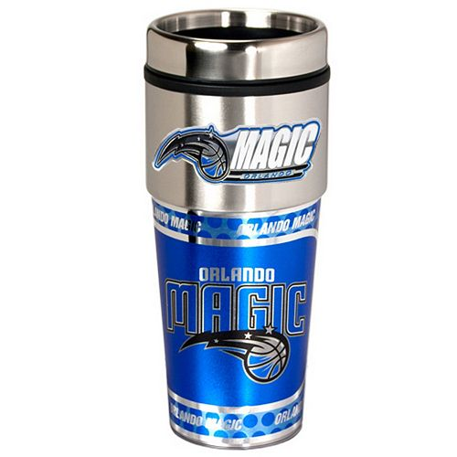 Orlando Magic Stainless Steel Metallic Travel Tumbler