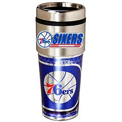 Philadelphia 76ers Stainless Steel Metallic Travel Tumbler
