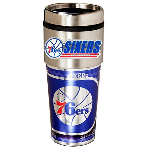 Philadelphia 76ers Stainless Steel Metallic Travel Tumbler