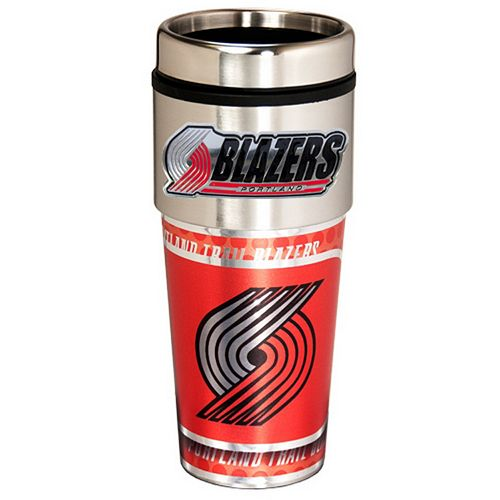 Portland Trail Blazers Stainless Steel Metallic Travel Tumbler