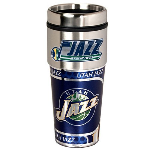 Utah Jazz Stainless Steel Metallic Travel Tumbler