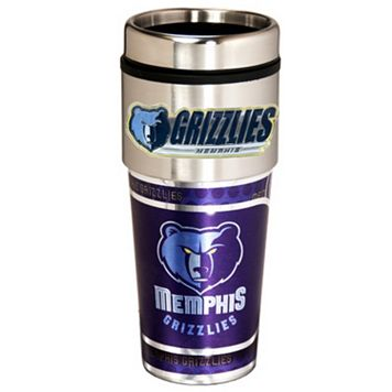 Memphis Grizzlies Stainless Steel Metallic Travel Tumbler
