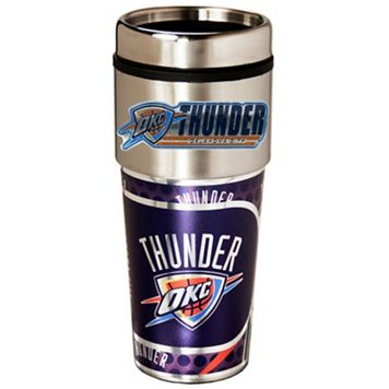 Oklahoma City Thunder Stainless Steel Metallic Travel Tumbler
